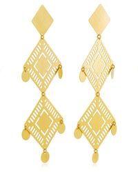 Paula Mendoza | Kambiru Gold-plated Brass Earrings | Lyst