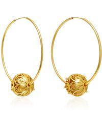 Mallarino | Gala Embellished Filigree Ball Hoop Earrings | Lyst