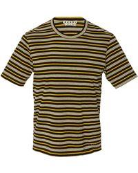 Marni - Striped Crewneck T-shirt - Lyst