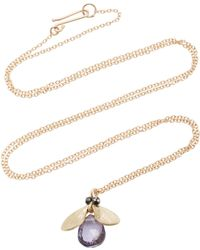 Annette Ferdinandsen - Jeweled Bug 14k Gold And Black Diamond Pendant Necklace - Lyst
