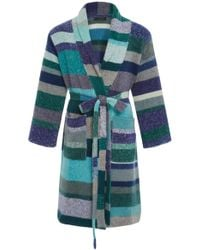 The Elder Statesman - Striped Cashmere Robe - Lyst