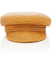 Lack of Color Mesa Woven Leather Cap