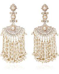 Sanjay Kasliwal - Pearl And Diamond Earrings - Lyst