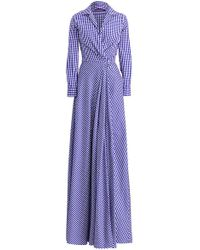 Ralph Lauren - Rivera Gingham Evening Dress - Lyst