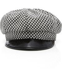 Eric Javits - Carnaby Houndstooth Wool Cap - Lyst