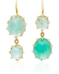 Renee Lewis | 18k Gold Emerald Earrings | Lyst