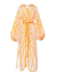 Yuliya Magdych - Panther Fully Embroidered Organza Caftan - Lyst