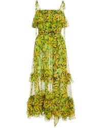 Michael Kors - Belted Silk Sundress - Lyst