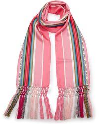 Loewe - Silk Striped Scarf - Lyst