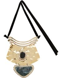 Proenza Schouler - Three Tier Hammered Necklace - Lyst