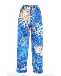 The Elder Statesman - Betony Printed Silk Relaxed Pajama Pants - Lyst