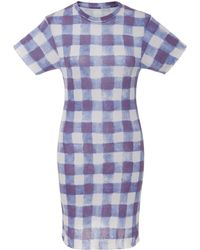 The Elder Statesman - M'o Exclusive Printed Cotton Mini Dress - Lyst