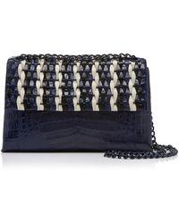 Nancy Gonzalez - Woven Crocodile Shoulder Bag - Lyst