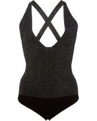Cushnie et Ochs | Deep V Knit Bodysuit | Lyst