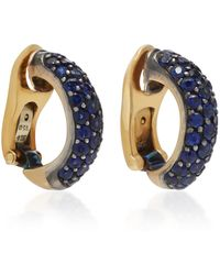 Gioia - 18k Gold And Sapphire Earrings - Lyst