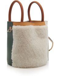 Danse Lente - Shearling Bobbi Bucket Bag - Lyst