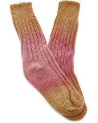 The Elder Statesman - Yosemite Dyed Cashmere Socks - Lyst