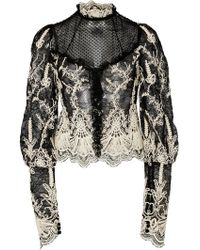 Alexis - Boda Lace-embroidered Sheer-yoke Top - Lyst