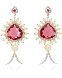 Hanut Singh - Narcotic Pink Jasmine Earrings - Lyst