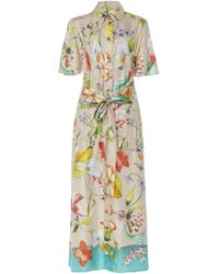 Carolina Herrera - Belted Short-sleeve Shirt Dress - Lyst