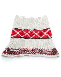 Isabel Marant - Estil Intarsia Knit Wool-blend Snood Scarf - Lyst