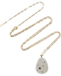 CVC Stones - Ocean 18k Gold, Beach Stone And Sapphire Necklace - Lyst