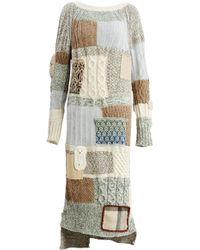 Tuinch - Patchwork Knit Dress - Lyst