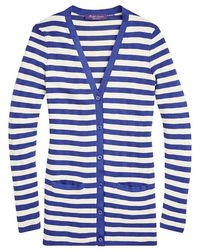 Ralph Lauren | Striped V-neck Cardigan | Lyst