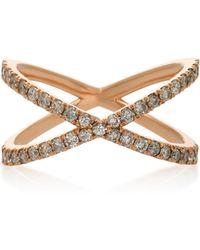 Eva Fehren - Shorty 18k Rose Gold And Diamond Ring - Lyst