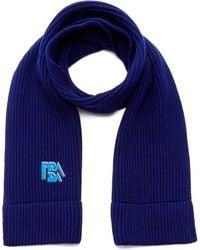Prada - Logo-embroidered Wool Scarf - Lyst
