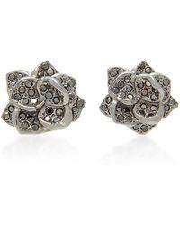Colette - 18k Black Gold And Diamond Earrings - Lyst