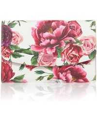 Dolce & Gabbana - Roseto Floral-print Leather Wallet - Lyst