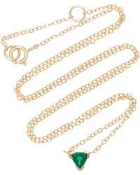 Shahla Karimi - Trillion 14k Gold Emerald Necklace - Lyst