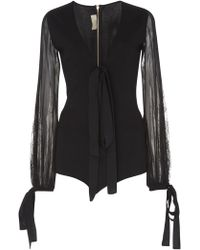 Elie Saab - Knit Bodysuit - Lyst