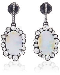Kimberly Mcdonald - One-of-a-kind Boulder Opal And Diamond Drops - Lyst
