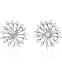Hueb - 18k White Gold Luminus Earrings - Lyst