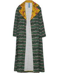 Rianna + Nina - Nina Cotton-linen Printed Coat - Lyst