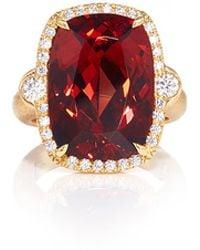 Pamela Huizenga | Malai Garnet And Diamond Ring | Lyst