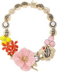 Elie Saab - Blossom Flower And Tiger Necklace - Lyst