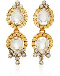Nicole Romano - Lumi 18k Gold-plated Crystal Earrings - Lyst