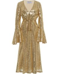 Prabal Gurung - Exclusive Sequin-embroidered Midi Dress - Lyst