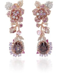 Anabela Chan - Tourmaline Rose Earrings - Lyst