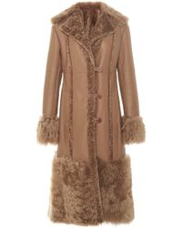 J. Mendel - Collared Reversible Shearling-leather Coat - Lyst