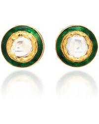 Sanjay Kasliwal - 22k Gold Diamond Stud Earrings - Lyst