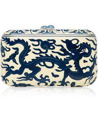 Silvia Furmanovich - Marquetry Blue Chinese Dragon Clutch - Lyst