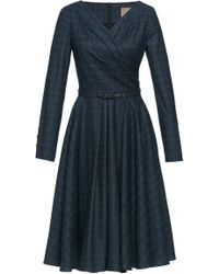 Lena Hoschek - Legacy Grid Wool-blend Dress - Lyst