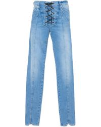 Dondup - Lace Up Jeans - Lyst