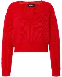Paule Ka - Wool-blend Cropped Sweater - Lyst