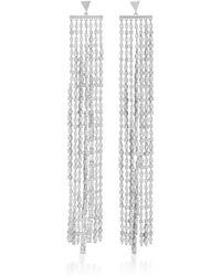 Fallon - Marquis Waterfall Sliver Earrings - Lyst