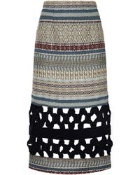 Razan Alazzouni - Print Midi Skirt - Lyst